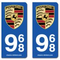 Kit 2 blasons Porsche 968