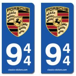Kit 2 blasons Porsche 944