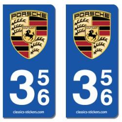 Kit 2 blasons Porsche 356