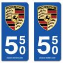Kit 2 blasons Porsche 550