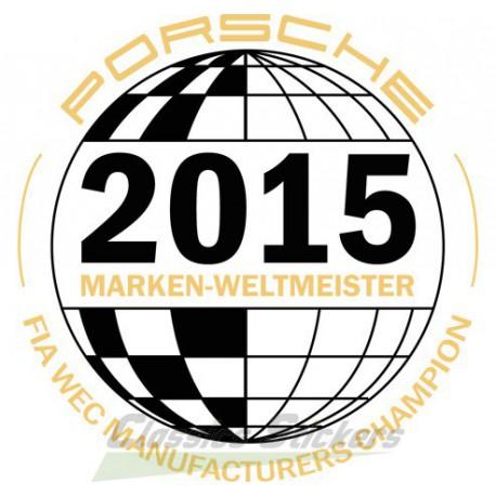 Sticker Marken Weltmeister Porsche 2015