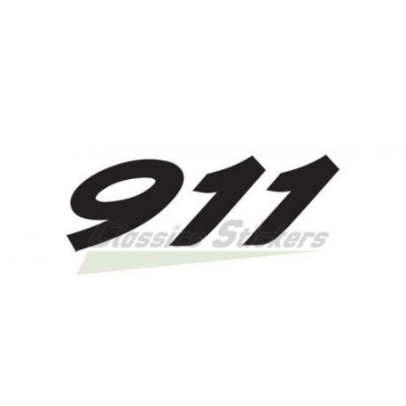 Lettrage arrière Porsche 911