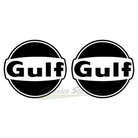 Kit stickers Gulf Noir et Blanc