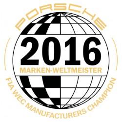 Sticker Marken Weltmeister Porsche 2016