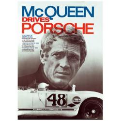 Poster - Steve Mc Queen - Porsche