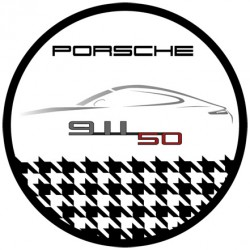 sticker 50 years anniversary Badge