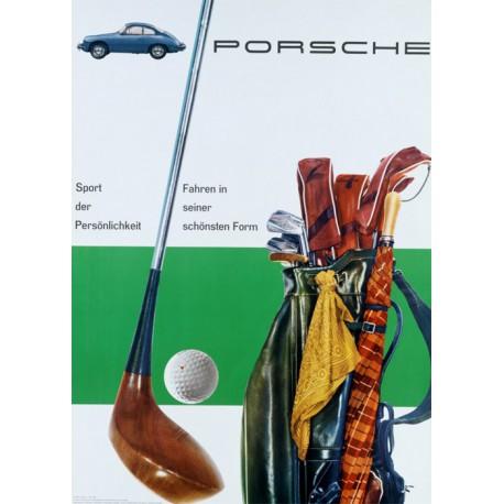 Poster Porsche Golf