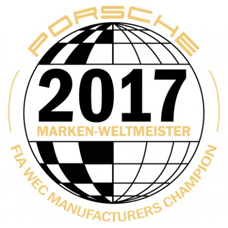 Sticker Marken Weltmeister Porsche 2017