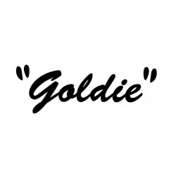 Lettrage Goldie