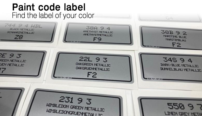 Retrouvez l'étiquette de votre couleur
