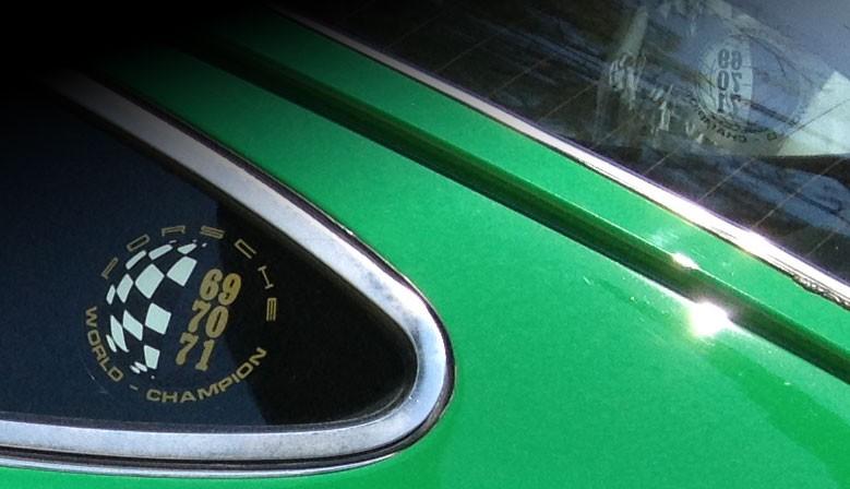 Reproduction des adhésifs de custodes Porsche Champion du monde